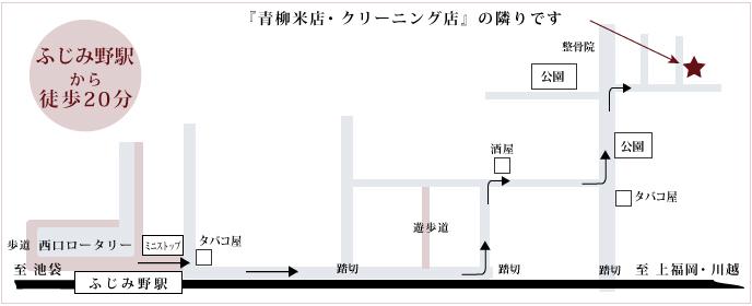 ふじみ野駅からサロンまでのマップです。
